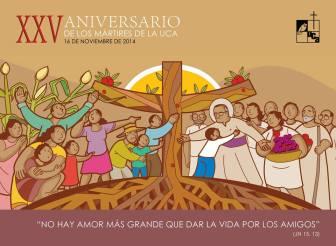 afiche martires uca25años