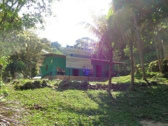 Establecimiento educativo en El Mineral, Sólo se puede acceder a pie desde Aldea Las Minas, luego de 2 Horas de subida.